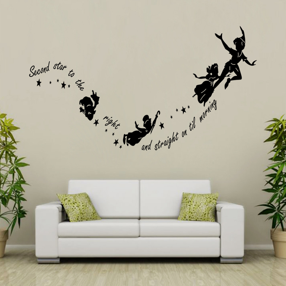 dining room wallpaper reviews online shopping dining room diy peter pan cartoon mural wall stickers kids boy living room dining kitchen poster vinyl decoration decal home decor wallpaper