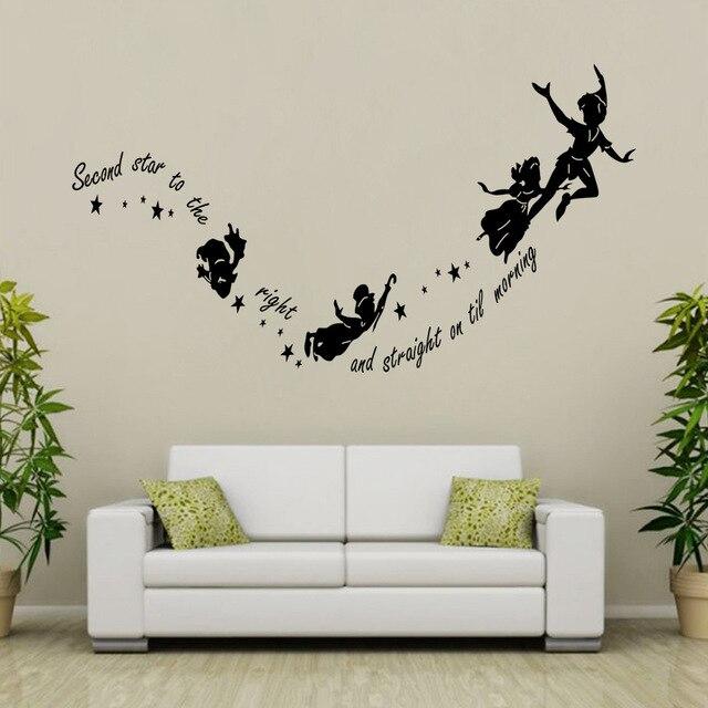 DIY Peter Pan Cartoon mural Adhesivos de pared niños sala comedor ...