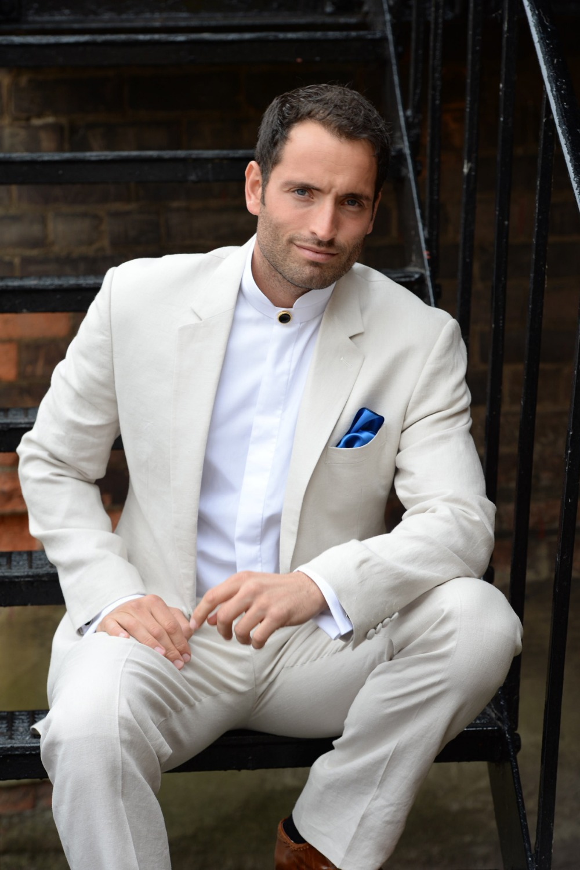 2017 Latest Coat Pant Designs Ivory White Linen Men Wedding Suit Slim Fit 2 Piece Tuxedo Custom Groomsman Blazer Terno Masculino
