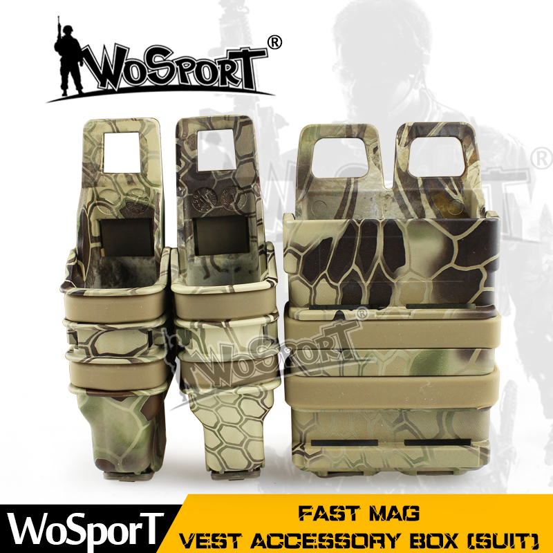 WoSporT FAST MAG Tactical Vest Accessory Box Pouch Outdoor Suit Size Many Colors Box For Airsoft Paintball Hunting Army Military