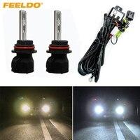 Автомобильные ксеноновые лампы FEELDO  35 Вт  2 шт.  9004/9007  Hi/Lo  биксеноновые + Сменные ксеноновые лампы  лампы переменного тока 4300 K-12000 K #2223