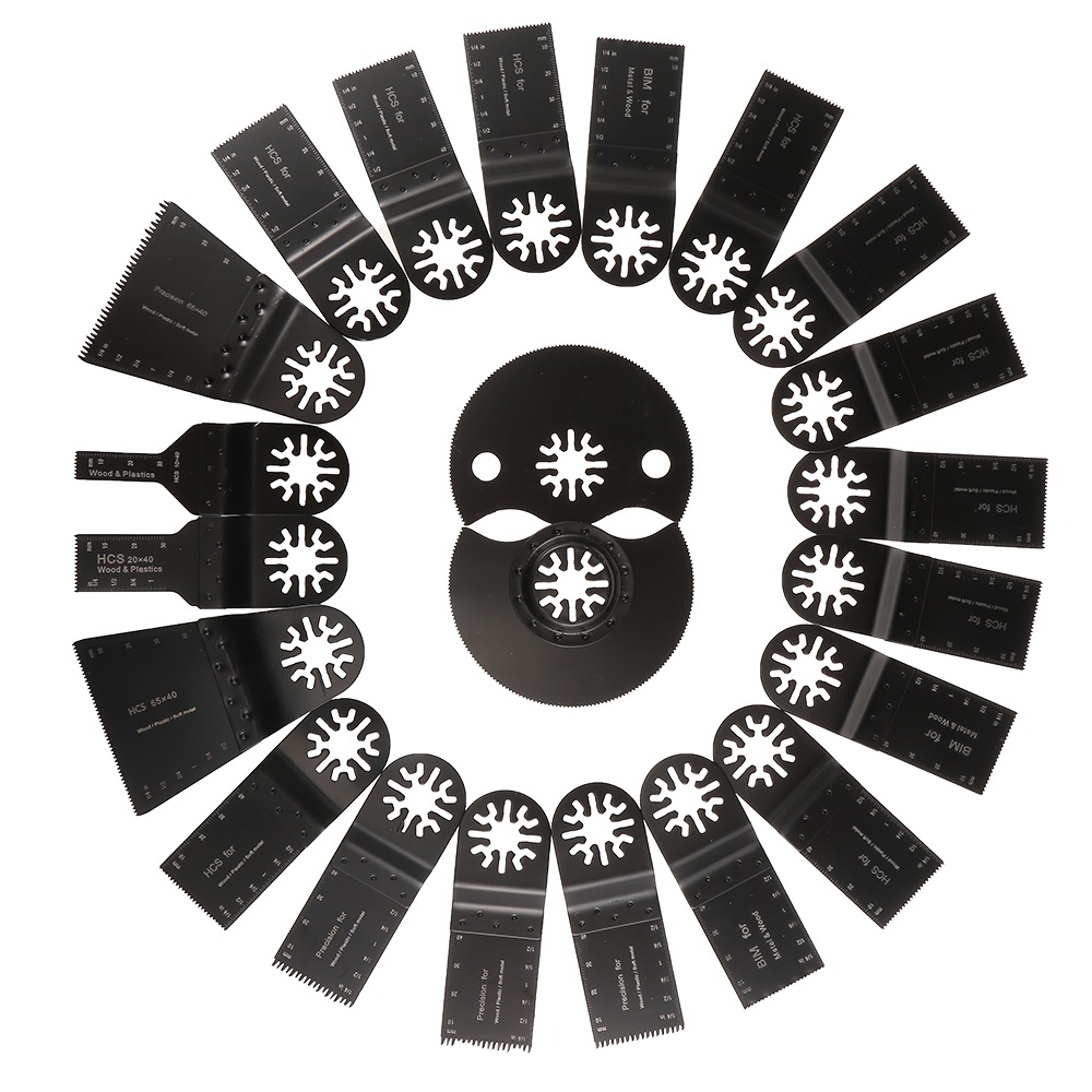 22 Pcs Kit Oscillating Tool Saw Blades For Renovator Power Tools As Fein Multimaster,Dremel For Cutting Grinding