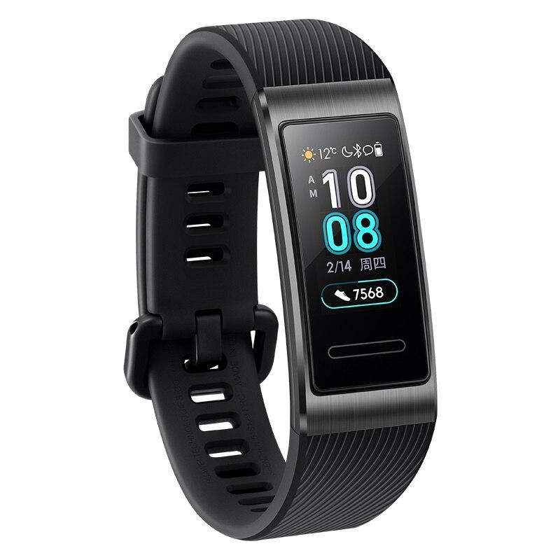 2019 nuevo original Huawei Band 3 Pro banda inteligente GPS marco de Metal Amoled Color pantalla táctil natación Sensor de ritmo cardíaco sueño rastreador - 5