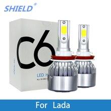 LED Car Headlight Bulb For Lada GRANTA KALINA LARGUS PRIORA Niva SAMARA VESTA XRAY H4 H7 H11 H1 H3 9005/HB3 9006/HB4 12V 6000K