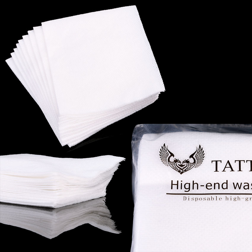 Original Disposable Tattoo Wipe Paper Towel Tissue Body Art Permanent Makeup Microblading Medical Tattoo Cleaning Tools Table Mat Supply Beauty & Health