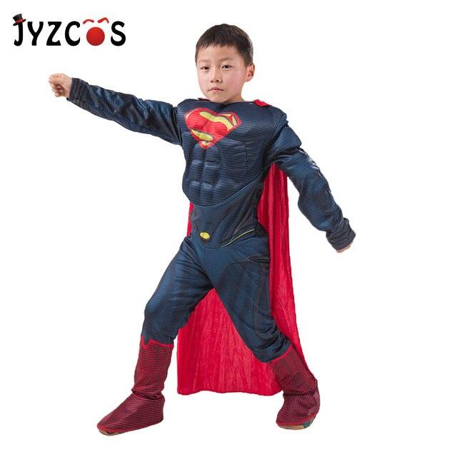 Пурим Хэллоуин костюм Человек паук Бэтмен Супермен костюм для мальчика Детский карнавальный костюм супергерой Мстители косплей одежда