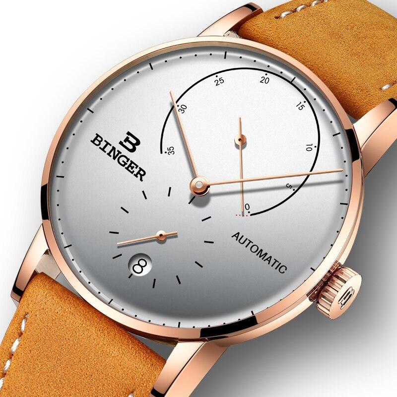 Швейцария BINGER Для мужчин часы Элитный бренд автоматические механические Для мужчин s часы сапфир мужской Японии двигаться Для мужчин t reloj ...
