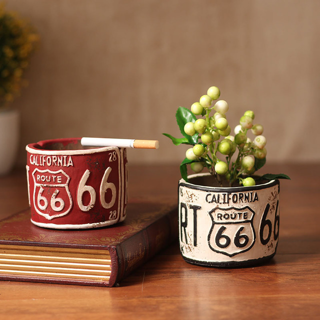american retro pleasure creative decorative ashtray cafe bar living room desktop decoration multi flower pots - Multi Cafe Decoration
