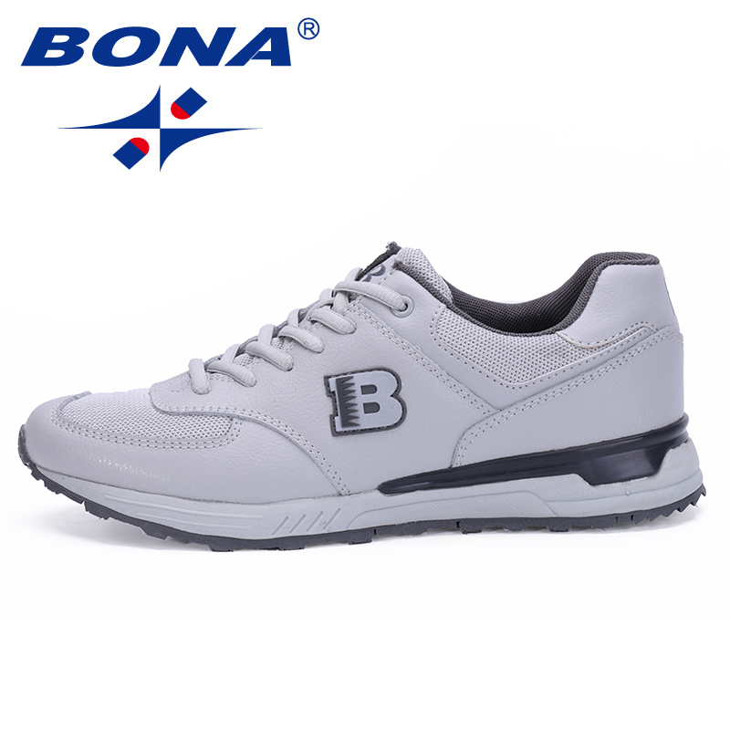 BONA New Typical Style Men Running Shoes Lace Up Athletic Shoes Outdoor Walking Jogging Sneakers Comfortable Fast Free Shipping sneakers men shoes outdoor 2017 size 36 44 sports shoes men running shoes for men lace up boy anti skid jogging walking x158