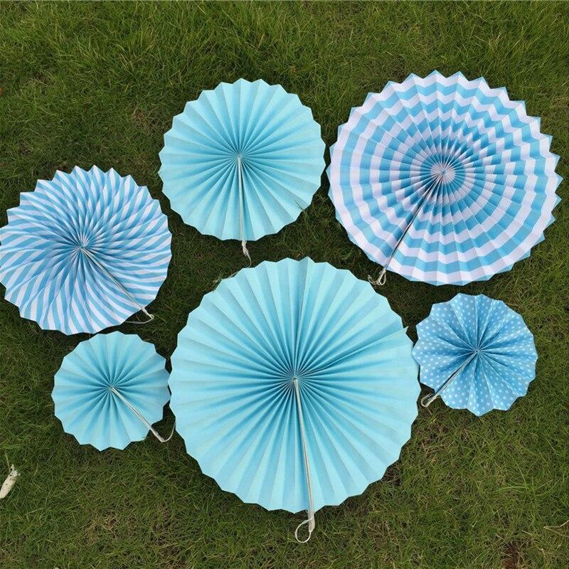 New 5pcs Tissue Paper Fan Diy Crafts Hanging Wedding: 6PCS Small Tissue Paper Fans Flowers Pompom Balls Round