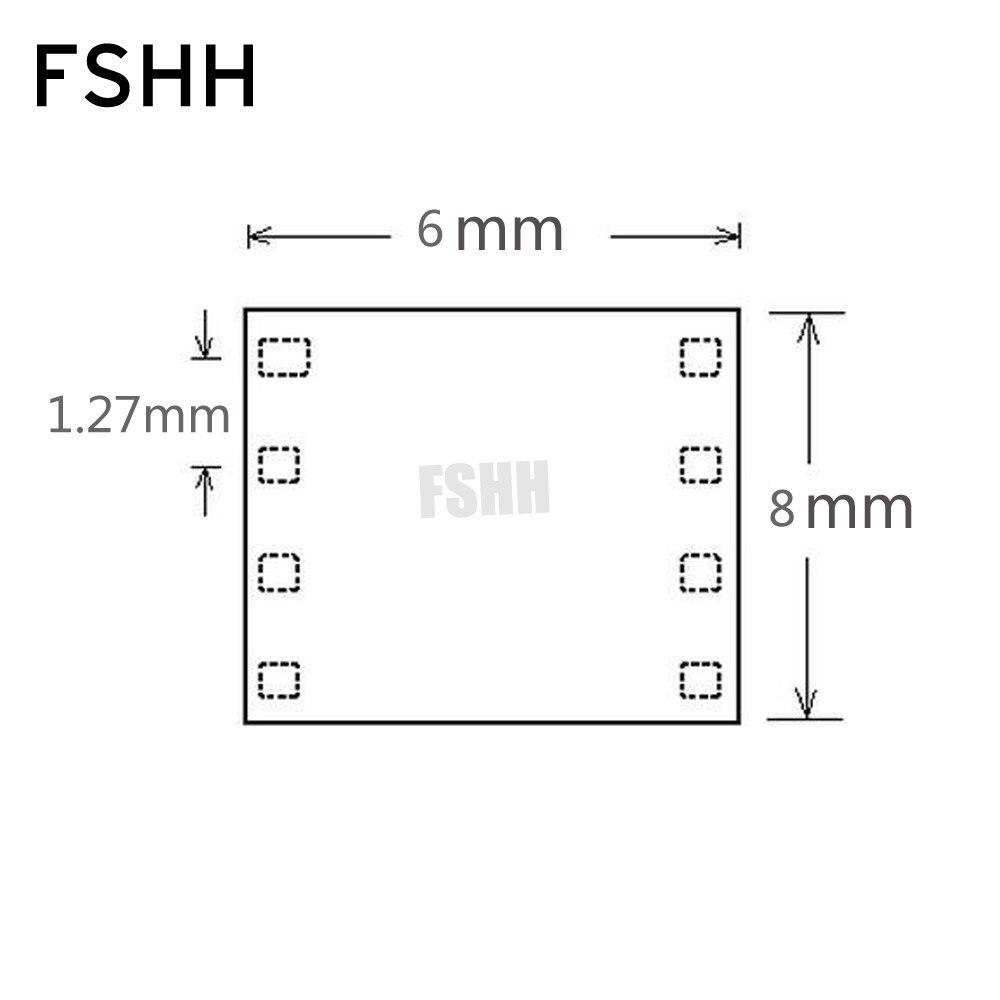 QFN8 à DIP8 programmeur adaptateur WSON8 DFN8 MLF8 à DIP8 prise pour 25xxx 6x8mm pas = 1.27mm - 6