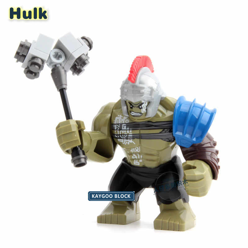 Big Hulk Action Figure Super Hero Dolls Single Sale Marvel Superheroes New Thor Movie Building Blocks Toys For Children XH654