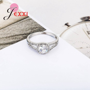 Dainty Top Quality Trendy Romantic AAA Cubic Zirconia Women Wending Ring Design 925 Sterling Silver Engagement Jewelry 3