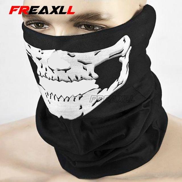 Motorcycle CS Ghost Skull Hood Full Face Mask Ski Sport Helmet Biker Motorcycle Half Face Mask Neck Scarf Headwear 5