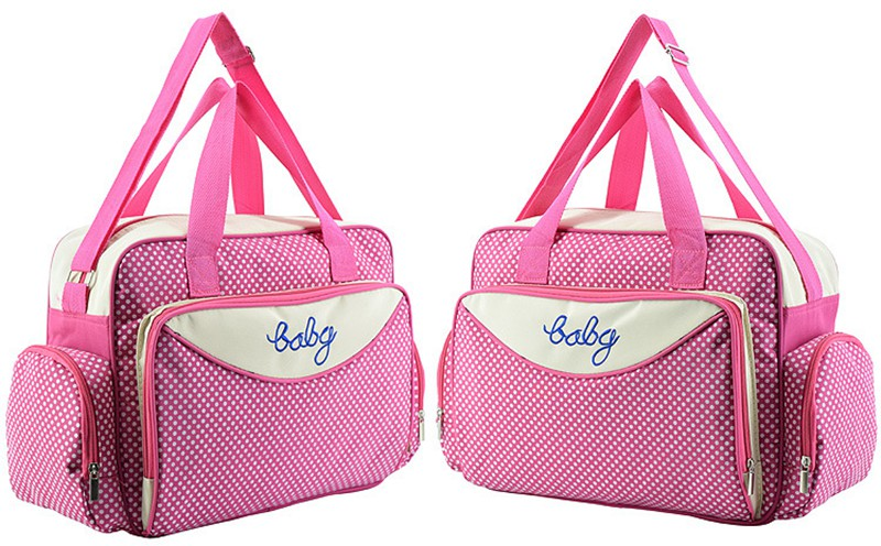 MOTOHOOD Baby Diaper Bag Organizer Baby Care Carriage Bag For Stroller Fashion Dot Multifunction Baby Bags For Mom 451530cm (4)