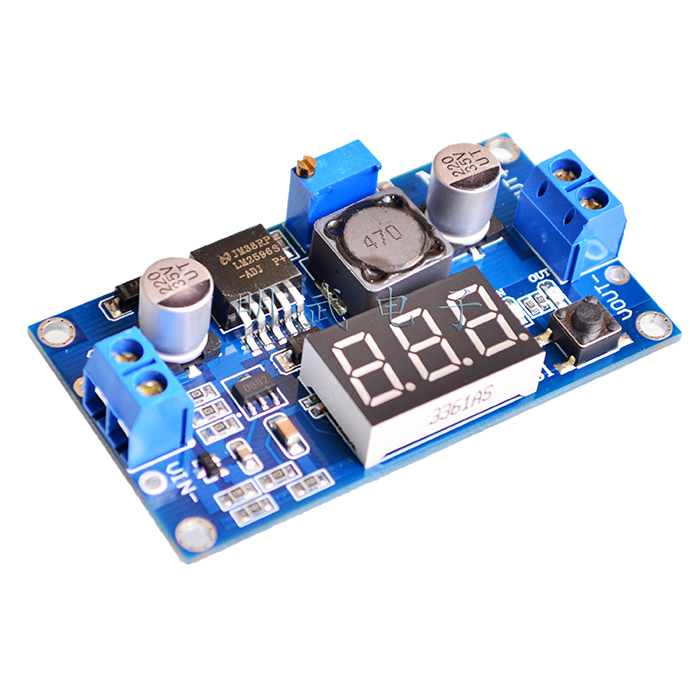 LM2596 Бак Понижающие Мощность преобразователь модуль DC 4,0 ~ 40 до 1,3-37 В светодиодный вольтметр LM2596S-ADJ