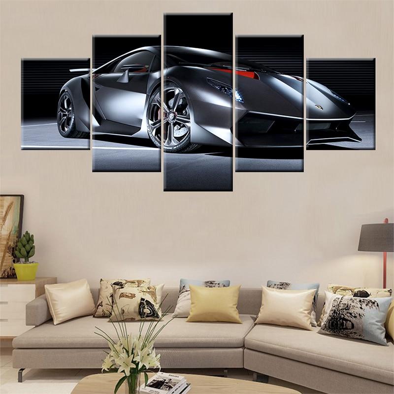 Lamborghini Logo Car Classic Canvas Print Poster Art Home Decor Wall Art