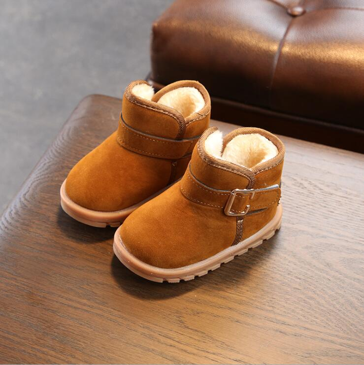 New Fashion Warm Children Boots Cute Girls Snow Boot Boys Girls Warm Shoes Kids Rubber Non-slip Boots Shoes стоимость