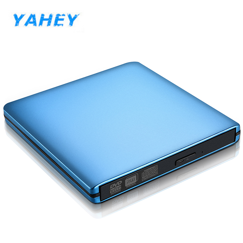 USB 3.0 External Small portable DVD CD RW CD/DVD-ROM Player Writer DVD Burner Drive for Windows 7/8/10 MAC OS linux