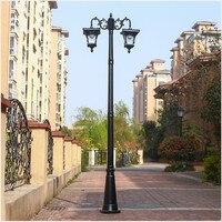 Poste de lámpara de jardín de decoración de aluminio en camino  calle