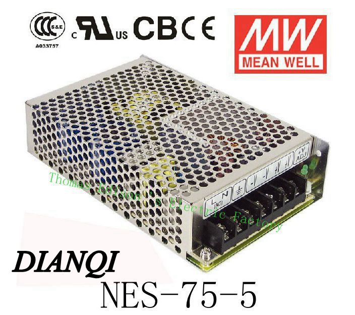 NES-75-5 Original power suply unit ac to dc power supply 70W 5V 14A MEANWELL meanwell 24v 75w ul certificated nes series switching power supply 85 264v ac to 24v dc