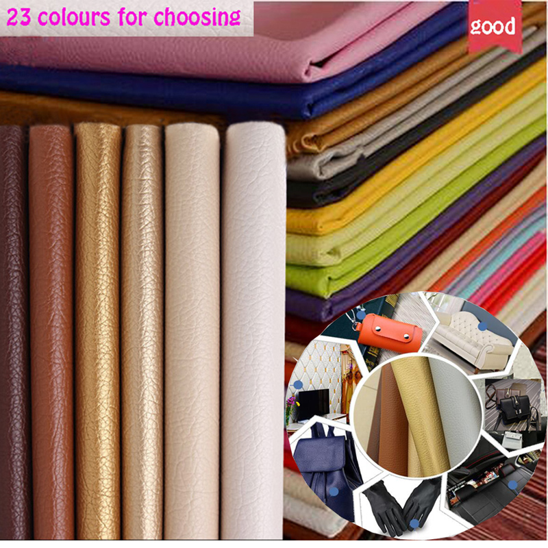 69 * 50 cm 1 pc Bon Noir PU Cuir Faux Cuir Tissu PU Cuir Artificiel - Arts, artisanat et couture