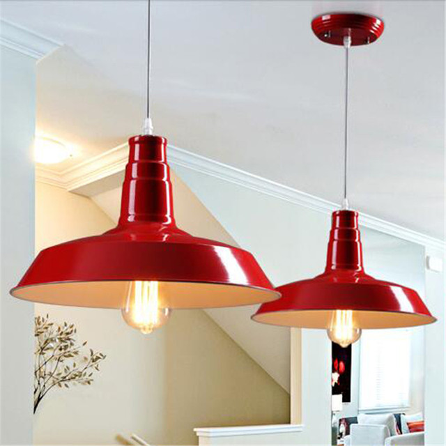 Delightful E27 Black White Red Pendant Lights Country Lamps Vintage Lighting For  Restaurant Bedroom Home Decoration