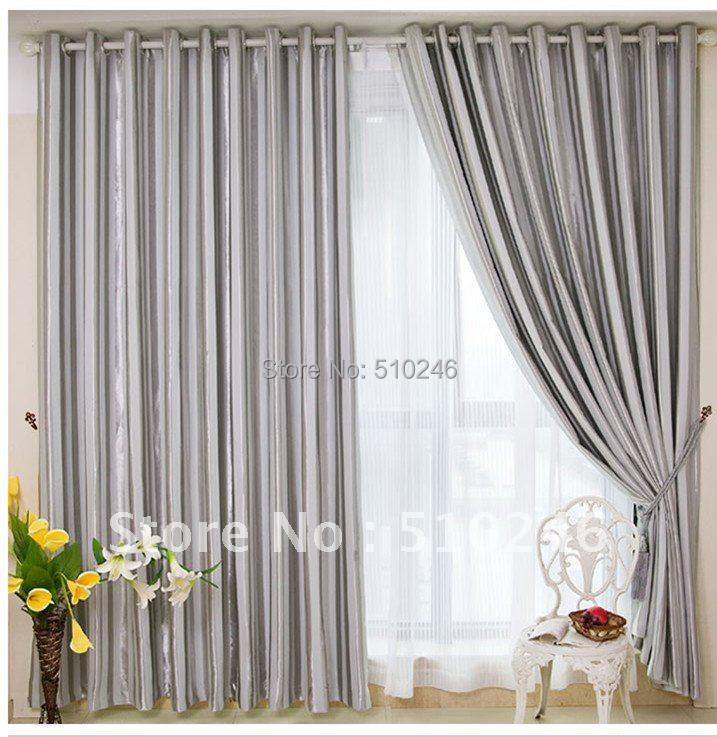 Cortinas de plata gris   compra lotes baratos de cortinas de plata ...