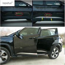 Lapetus Accessories For Jeep Compass 2017 2018 2019 Outside Car Door Molding Body Strip Streamer Protection Plate Cover Kit Trim