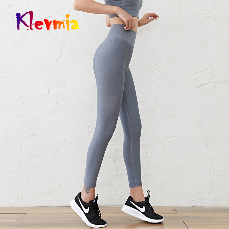 Women High Waist Yoga Pants Seamless Leggings Fitness Push Up Gym Sports Trouser