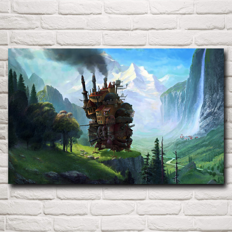 Howls Moving Castle Poster (4 Sizes