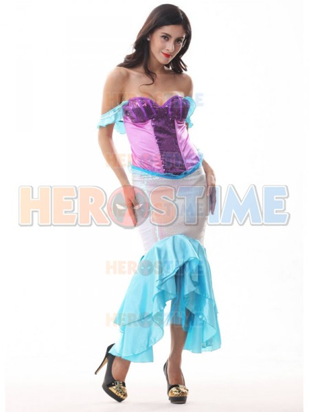 2017 Paillette One-piece Mermaid Multicolor Halloween Costume