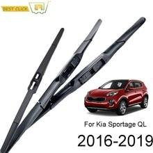 Misima pára-brisas lâminas de limpador para kia sportage ql frente conjunto limpador janela traseira 2016 2017 2018 2019