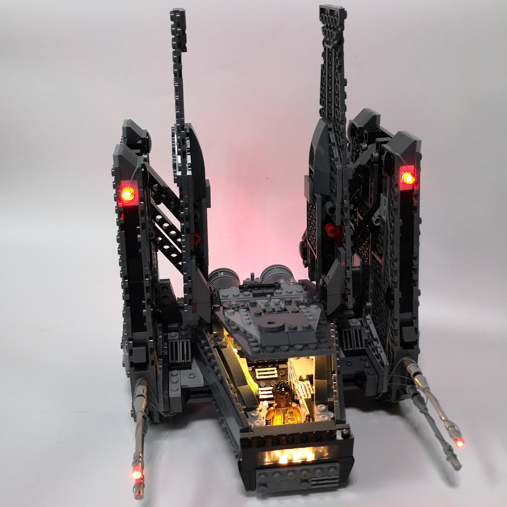 Led Light Kit For lego and lepin the Kylo Ren Command Shuttle Model Building Compatible With 75104 and 05006 lepin 05006 star kylo ren command shuttle lepin building blocks educational toys compatible with 75104 lovely funny toys wars