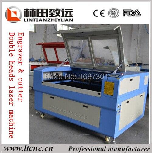 Heisse Verkaufe LT 1390 Plexiglas Lasergravierer Cutter Mit Doppelkopfen 60 Watt 150 In