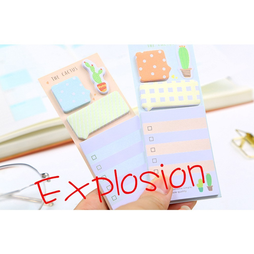 BPCactus Cute Sticky Notes Stationery Stickers planner Memo pads diary school office supplies WJ-LLBQB1 diy korean cute creative office novelty post sticky notes it planner stickers page index office school supplies stationery