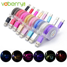 Buy galaxy led light bar and get free shipping on aliexpress voberry led light usb c type c charger date cable charging cord for samsung galaxy aloadofball Choice Image