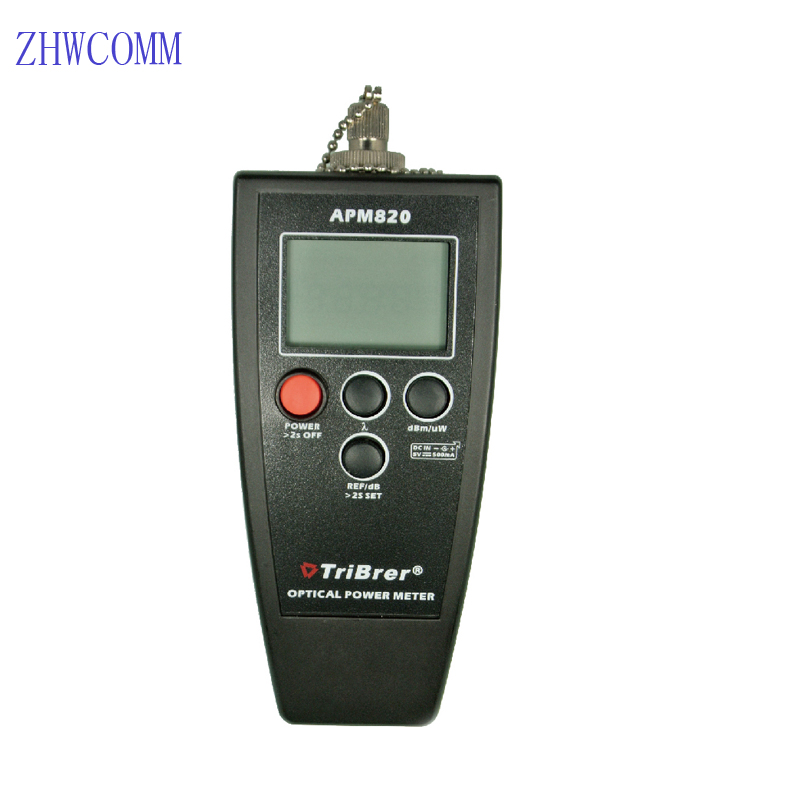 ZHWCOMM High Quality APM820 Handheld Optical Power Meter InGaAs +8 ~ -70dBm Fiber Optic equipment ZHWCOMM High Quality APM820 Handheld Optical Power Meter InGaAs +8 ~ -70dBm Fiber Optic equipment