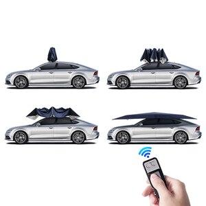 Image 3 - 4.2M אוטומטי רכב מטריית אוהל רכב חיצוני נייד מטריית גג שמש כיסוי UV הגנה ערכות שמש צל עם שלט רחוק