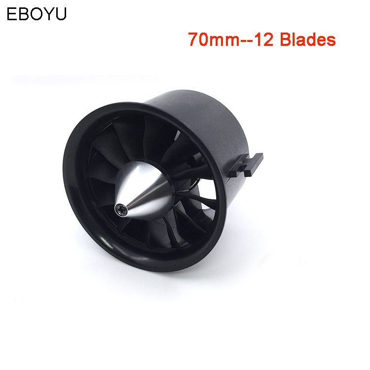 купить QX-Motor 70mm EDF Ducted Fan Set 12 Blades Electric EDF with 4s Motor QF2827 2600KV Brushless Outrunner Motor for Jet AirPlane по цене 2553.9 рублей