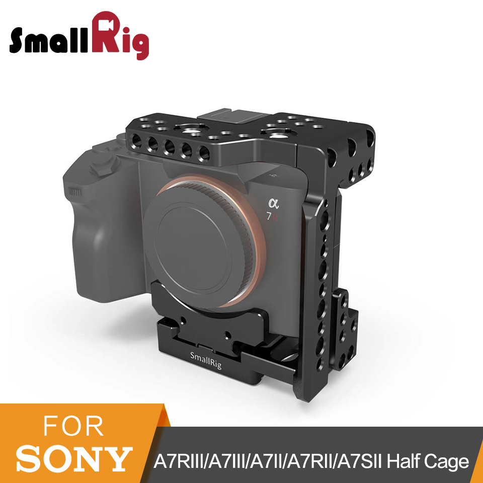 SmallRig a7ii/a7iii Arca QR Half Cage for Sony A7R III/A7 III/A7 II/A7R II/A7SII Camera Cage With Nato Rail Could Shoe - 2238 цена