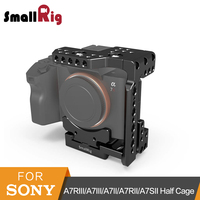 SmallRig a7ii/a7iii Arca QR Half Cage for Sony A7R III/A7 III/A7 II/A7R II/A7SII Camera Cage With Nato Rail Could Shoe 2238