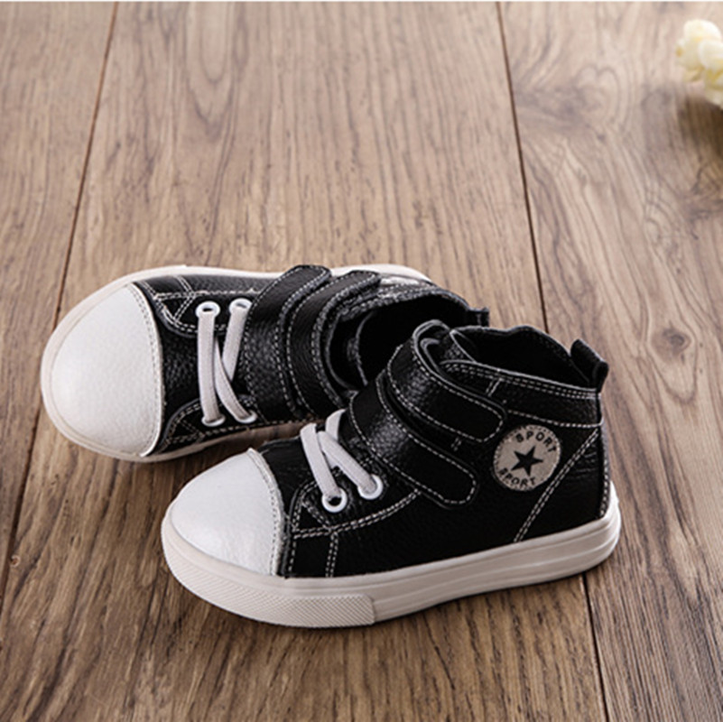 Spring Autumn Children Sneakers cool Boys Girls Shoes New Stars Children boots Shoes Kids Casual genuine leather Toddler Shoes