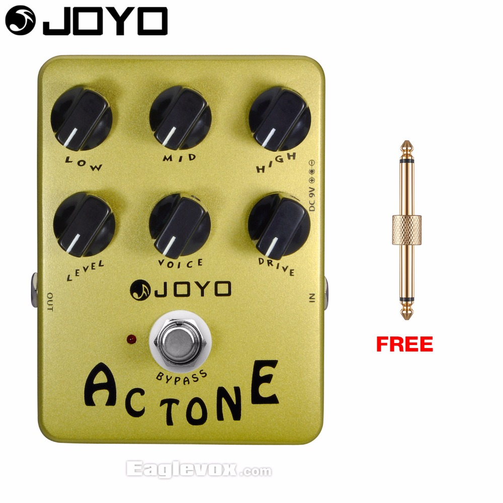JOYO JF-13 Ac tone Electric Guitar Effect Pedal True Bypass with Free Connector недорого