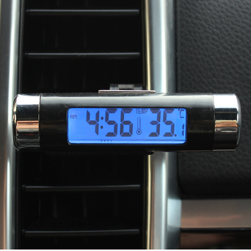 US $4 71 14% OFF Car Digital Clock LCD Thermometer Air Vent Outlet For  Skoda Superb Octavia A7 A5 Fabia Rapid Yeti Citroen C4 C5 C3 Grand  Picasso-in