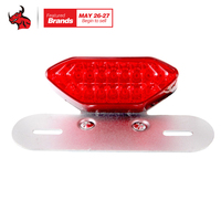 Motorcycle Taillights LED Laser Taillight Parking Stop Brake Lamps Warning Motorcycle Tail Light Led Motorcycle Light
