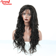 Loose Wave Lace Front Human Hair Wigs Brazilian Remy Hair 150% Density Pre Plucked With Baby Hair Natural Color Sunny Queen Hair