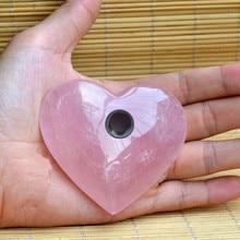 Дропшиппинг Новые рулонные хрустальные сердечки табачные трубы розовый/розовый кварц хрустальные курительные трубки