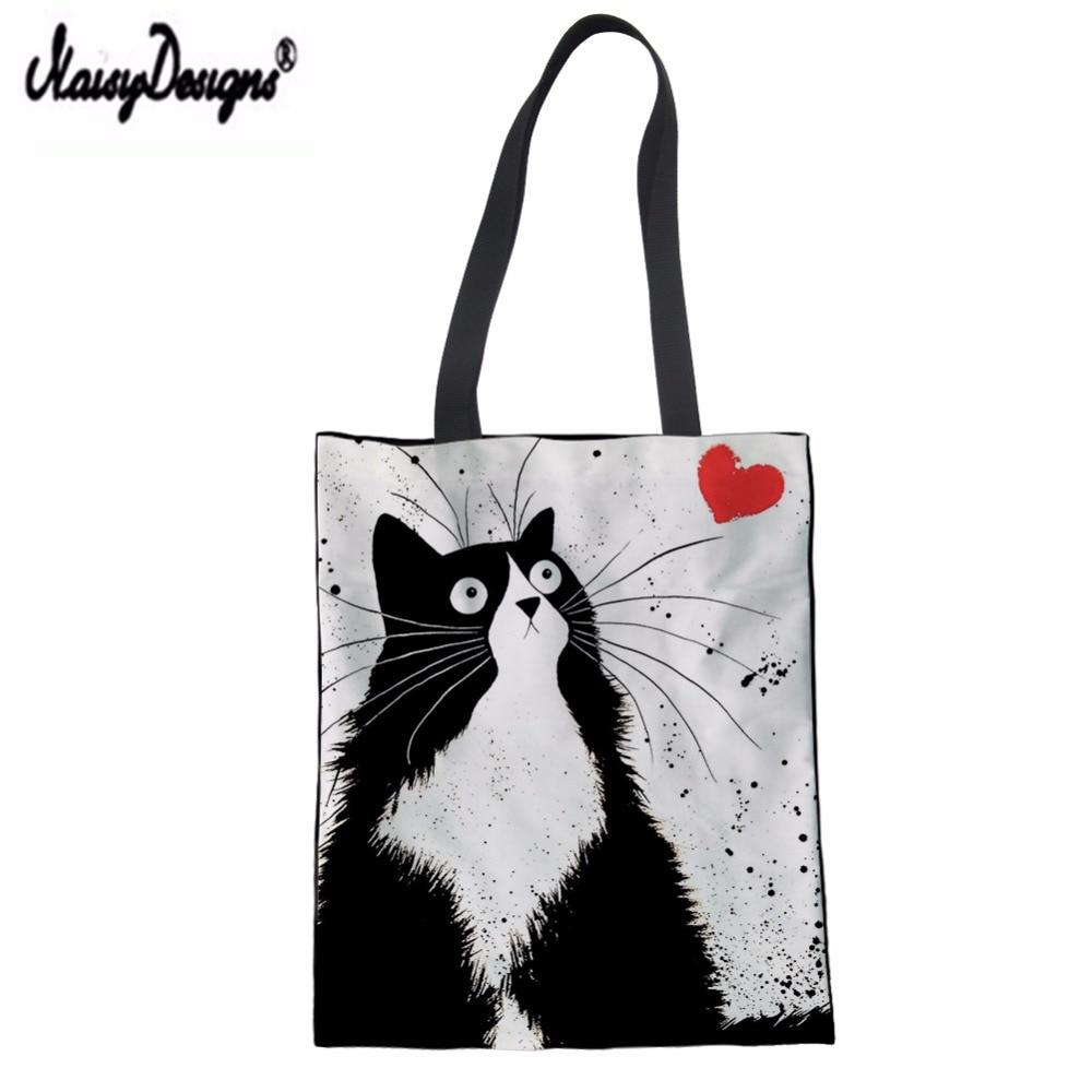Womens Leather Top Handle Shoulder Handbag Cute Cats Large Work Tote Bag