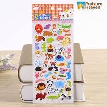 1 sheet zoo tiger PVC kawaii animal stickers album diary Notebook DIY paper decorative sticky sticker